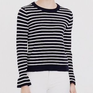 • J. CREW FACTORY • striped bell sleeve sweater